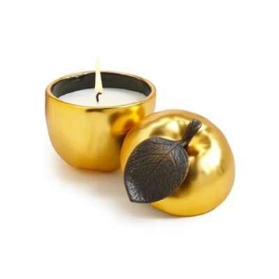 Copper-plated Apple Candle