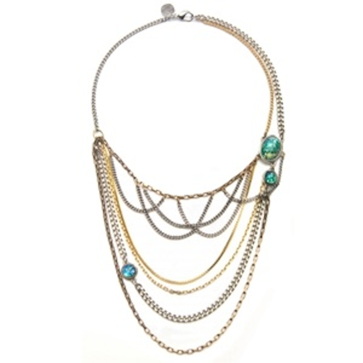 Green Opal Chain Swag Necklace