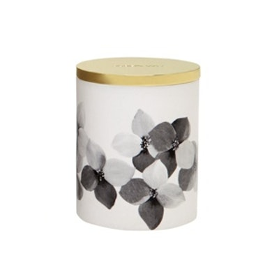 Porcelain Orchid Print Lidded Candle