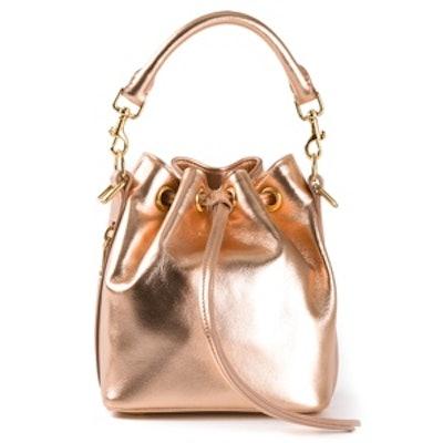 Metallic Bucket Bag