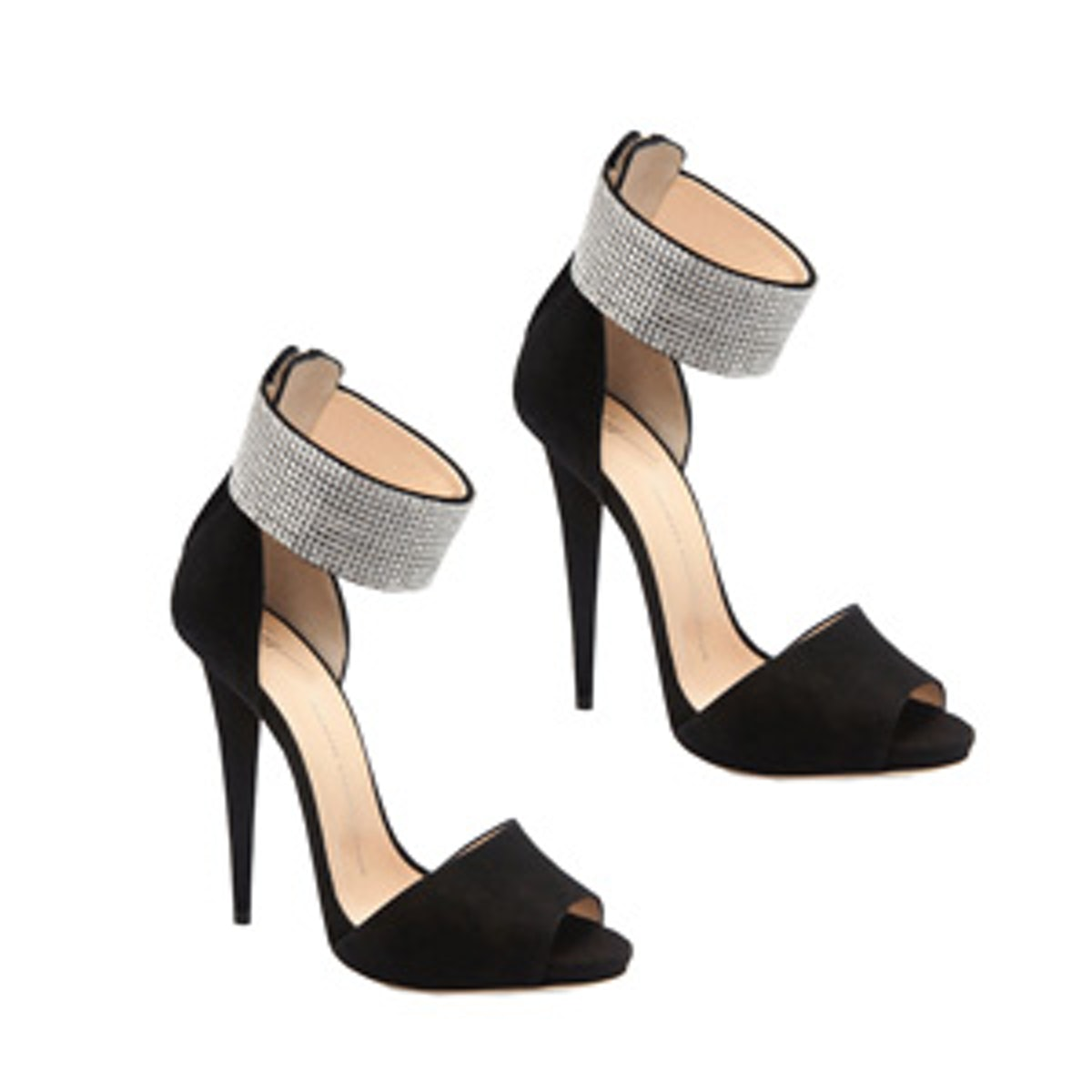 Crystal Ankle Wrap Sandals