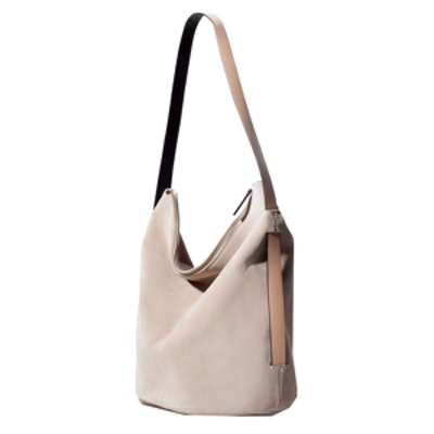 Leather And Suede Bucket Bag