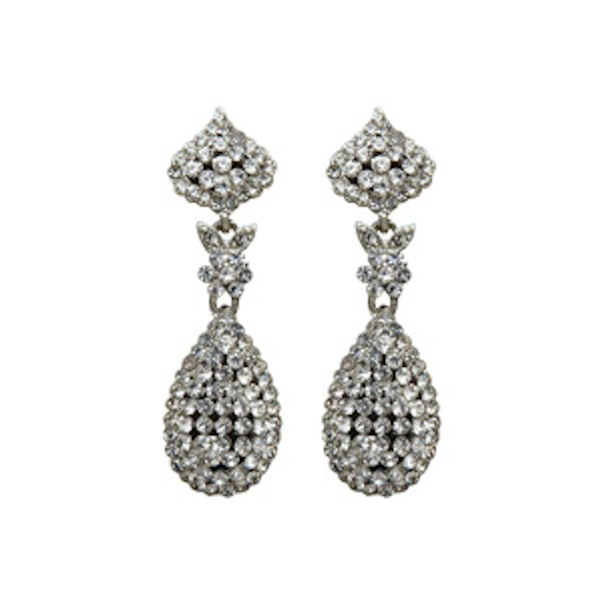 Tear Drop Crystal Swing Earrings