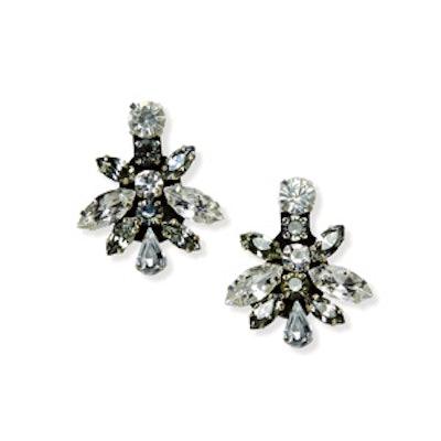 Truly Zac Posen Bold Mixed Crystal Geometric Earrings