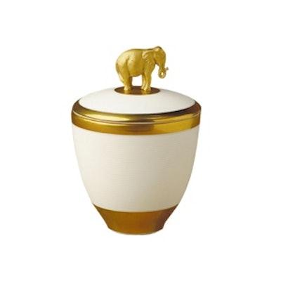 Porcelain Elephant Candle