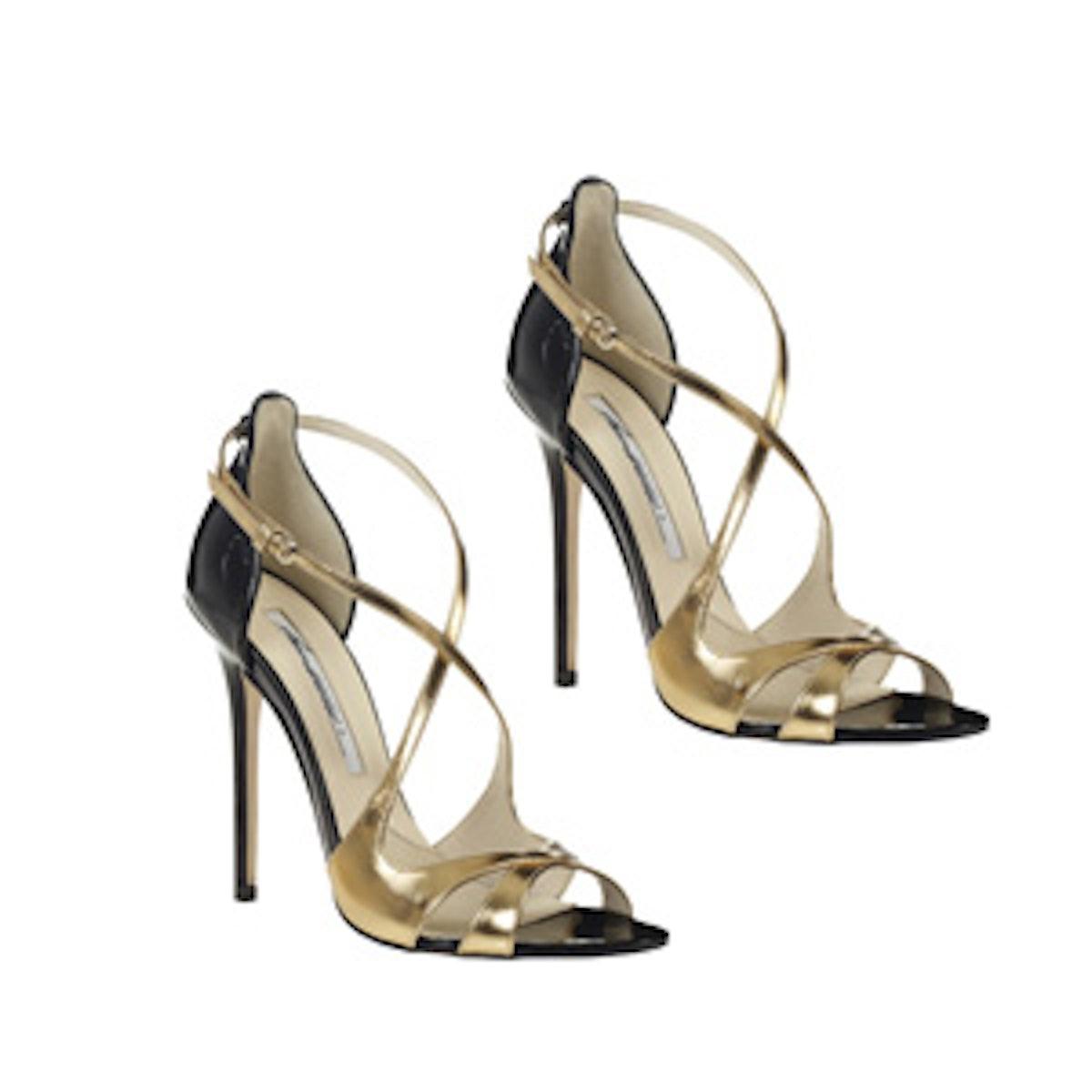 Mirror Leather Sandals