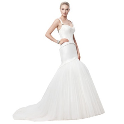 Truly Zac Posen Taffeta Fit and Flare Gown with Corset Seaming