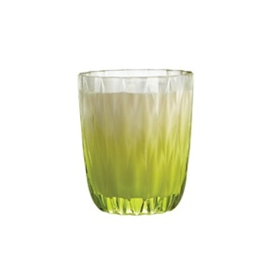 Chartreuse Glass Candle