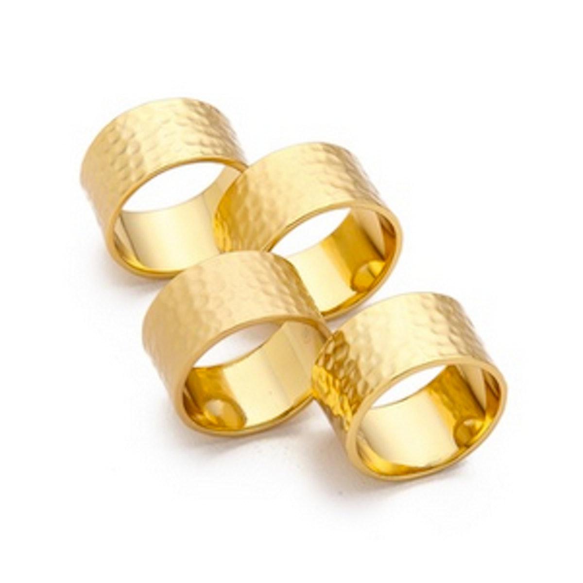 Camila Hammered Ring Set