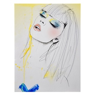 Marianne Fashion Illustration Print
