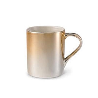 Ceramic Gradient Rose Gold and Silver Mug