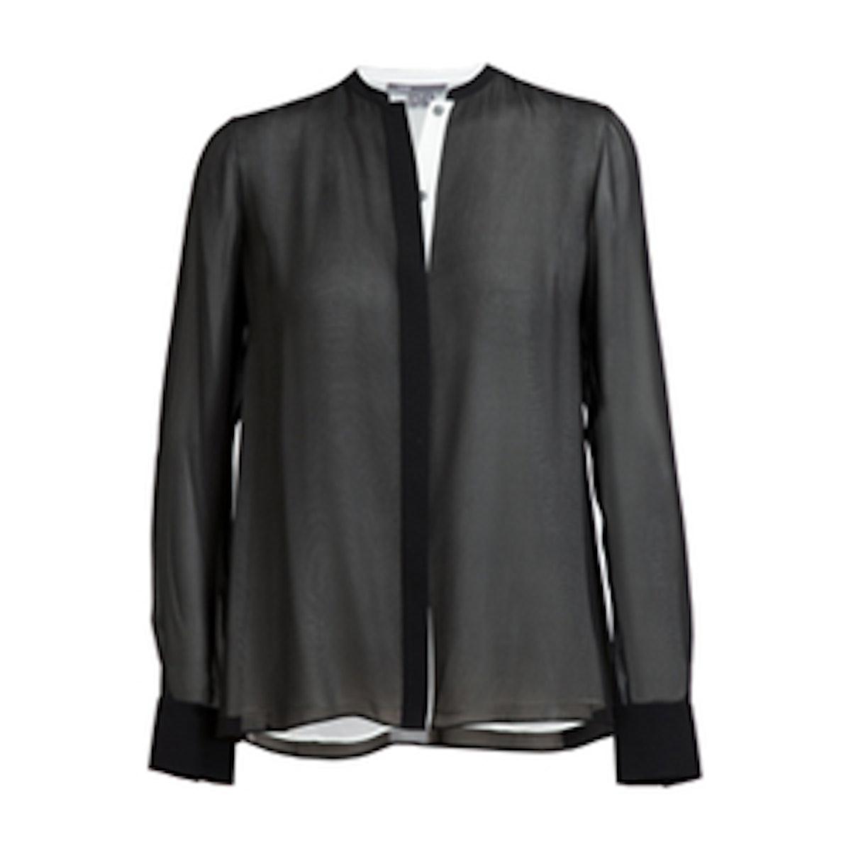 Double Layered Silk Shirt