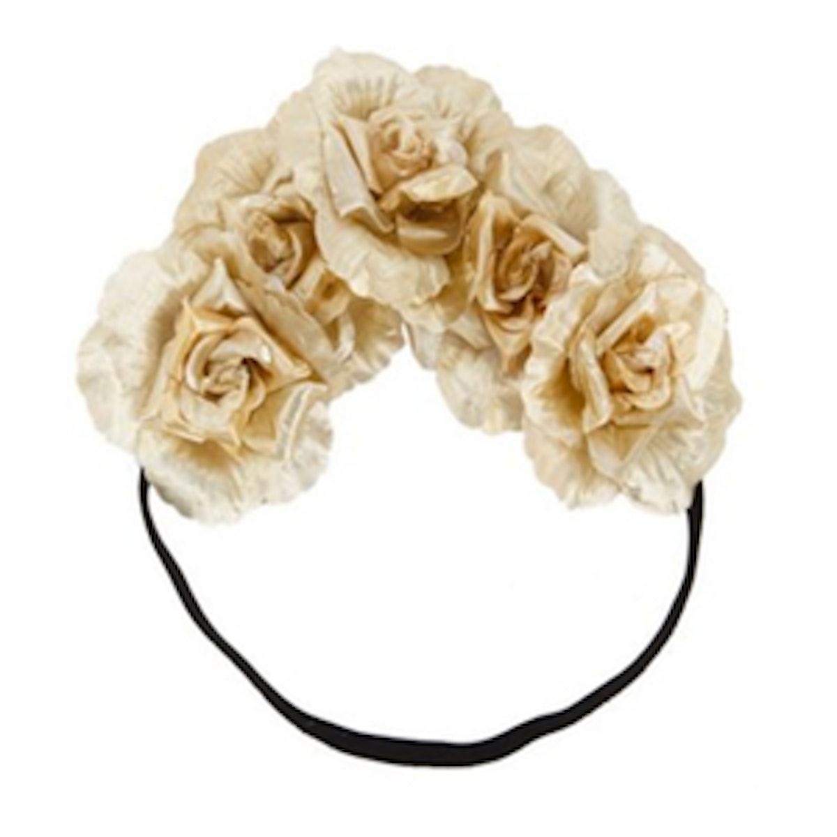 Metallic Flower Crown