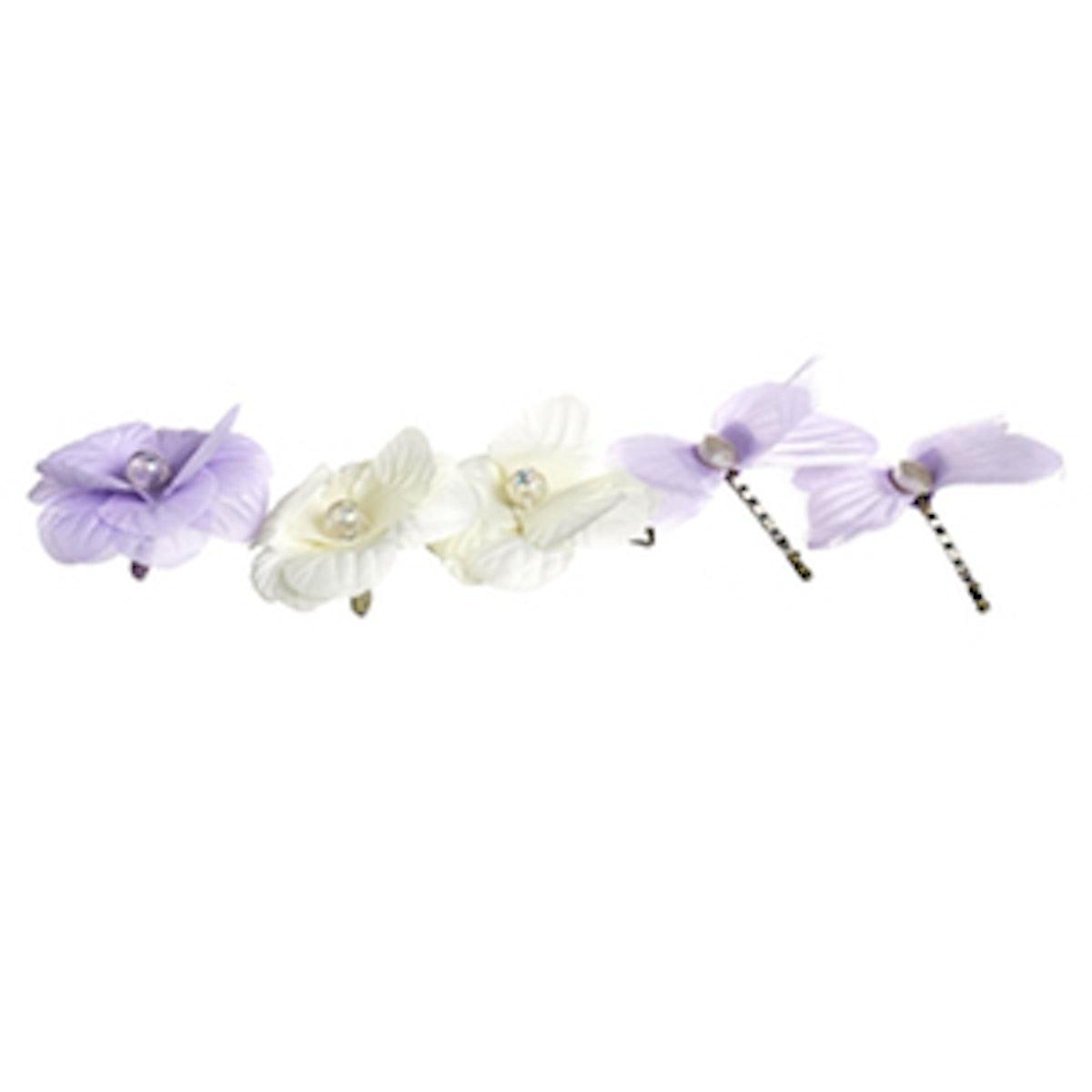 Butterfly Flower Clips