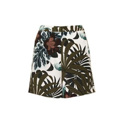 Jungle Print Silk Shorts