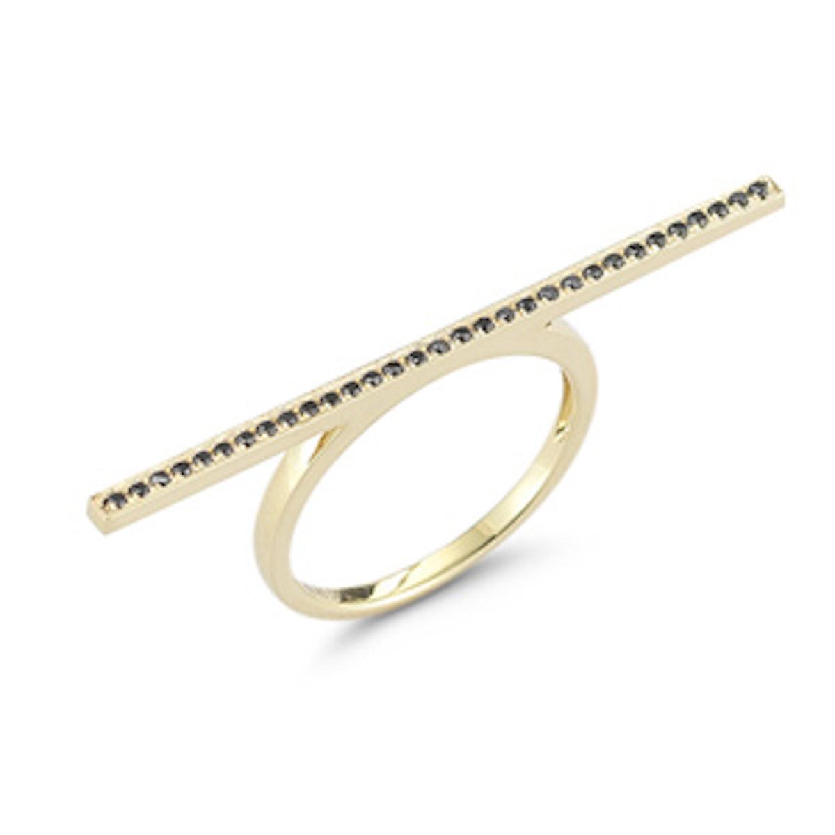 Sylvie Rose Black Diamond Bar Ring