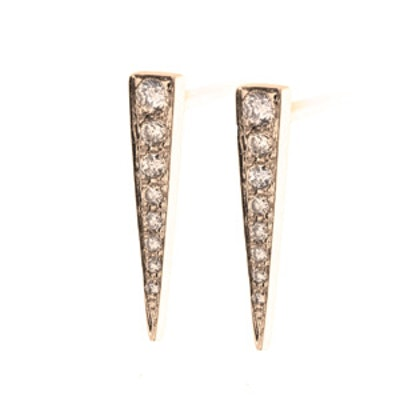 Gold & Diamond Dagger Studs