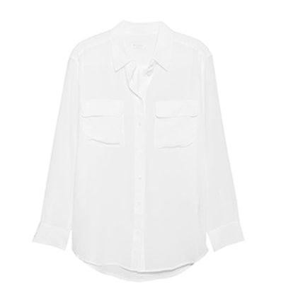 Signature Bright White Silk Shirt