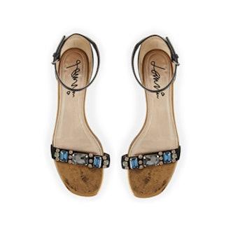 Crystal Toe Strap Sandal