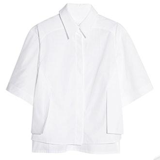Radial Layered Cotton Shirt
