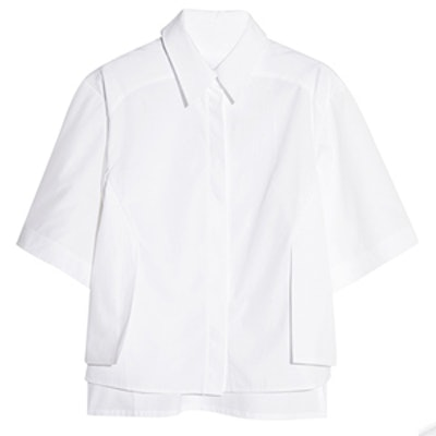Radial Layered Cotton Shirt