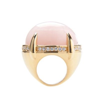 Rose Quartz Cocktail Ring