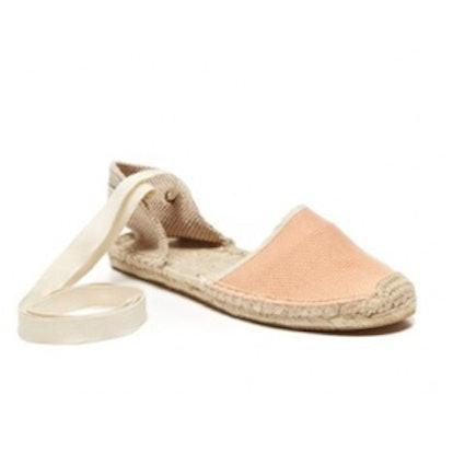 Peach Woven Sandals
