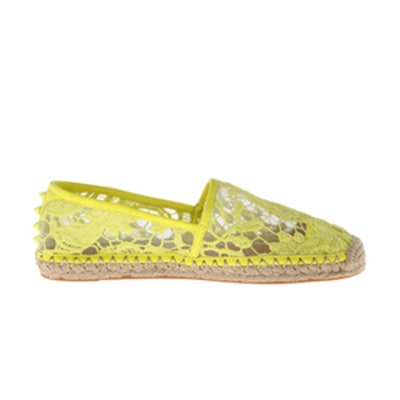 Genny Acid Yellow Espadrilles
