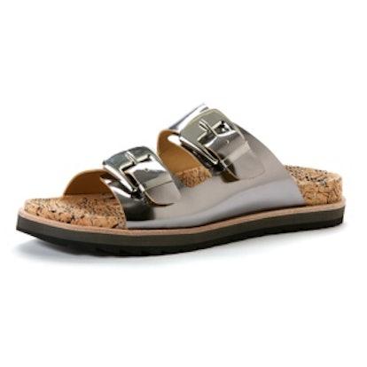 Fawn Flat Sandals in Metallic