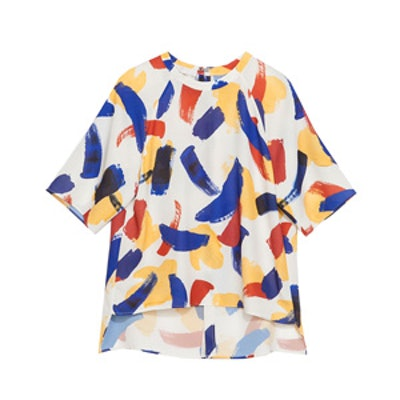 Blouse with Brush Strokes