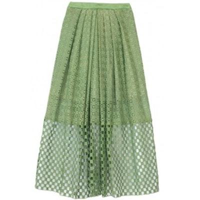 Eyelet Full Skirt