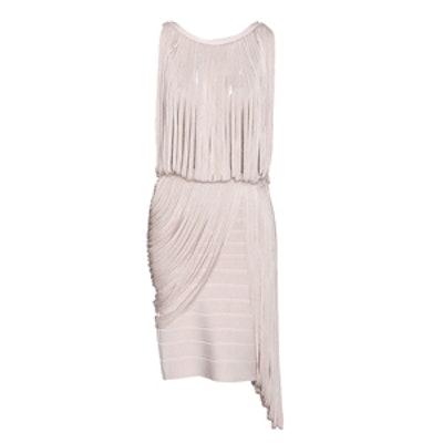 Draped Fringe Dress