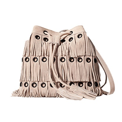 Suede Dolly Bag With Fringe