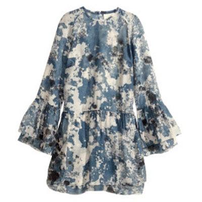 Ruffled Dress In Lyocell Blend