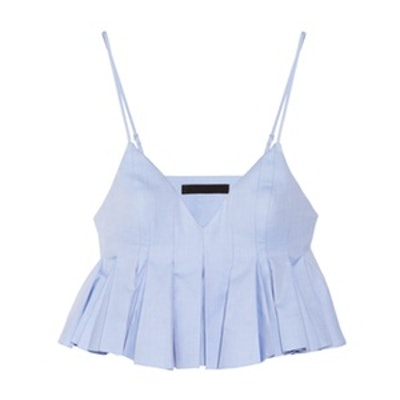 Cropped Pleated Top