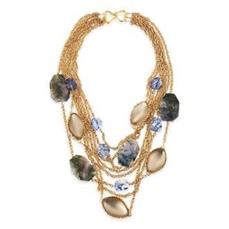 Multi-Stone Chain Necklace