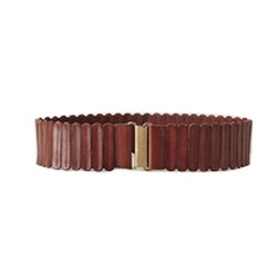 Tabbed Leather Belt