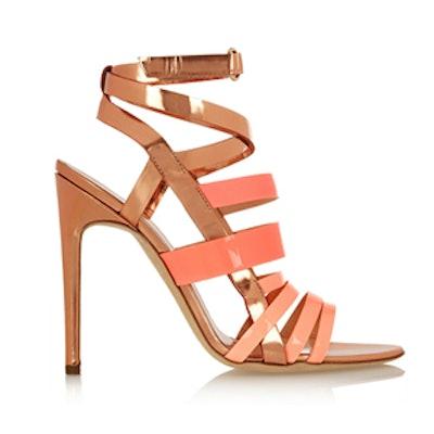 Tallyho Metallic Leather Sandals