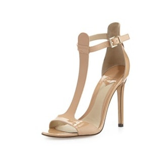 Leigha Patent Leather T-Strap Heel
