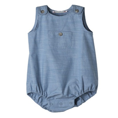 Chambray Romper Suit