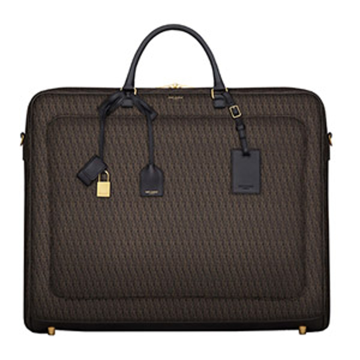 Large Garment Bag In Canvas And Leather