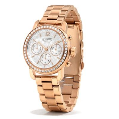 Legacy Sport Rose Gold Crystal Bracelet Watch