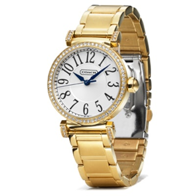 Madison Gold Plated Bracelet Watch