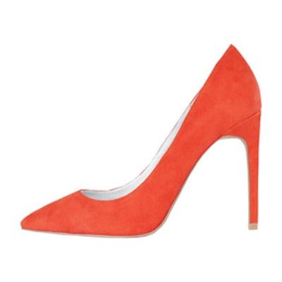 Orange Suede Dulce Heel