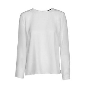 Sheer Sleeve Blouse