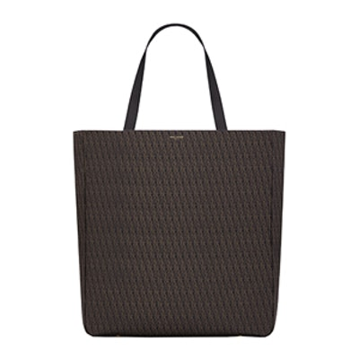 Large Tote In Canvas And Leather