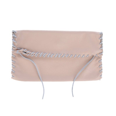 Light Pink Slouchy Leather Clutch