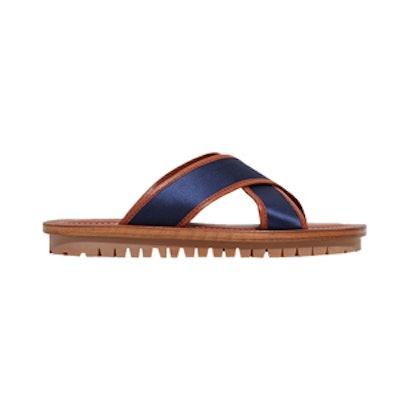 Sateen Criss-Cross Sandal