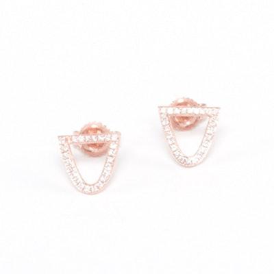 Bermuda Pave Diamond Stud Earrings