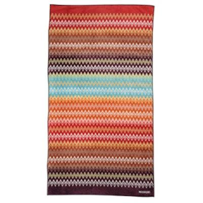 Striped Terry Cloth Beach Towel